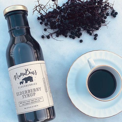 SUGAR/HONEY FREE Organic Elderberry Syrup (12oz)