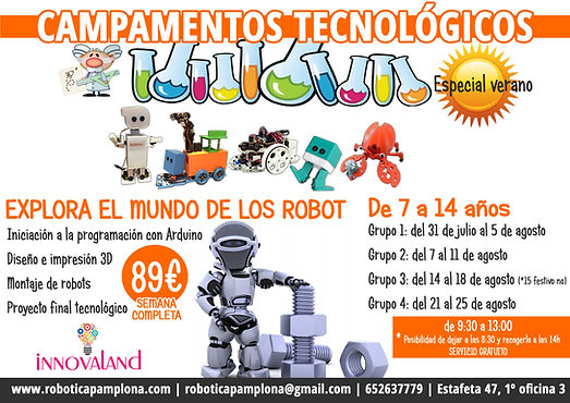 campamentos robótica Pamplona