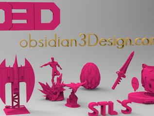 Nace obsidian3design.com, una web de compra de STL optimizados para la impresión 3D