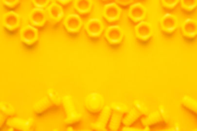 yellow-3d-printed-bolts-and-nuts-LPS6UZH