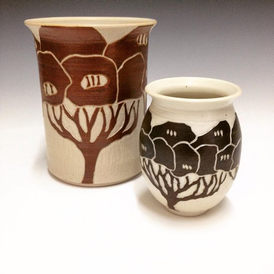 Vases by Dona V. Come see this work in person next Friday April 21st at our annual Spring Sale. Doors open at 5pm.jpg