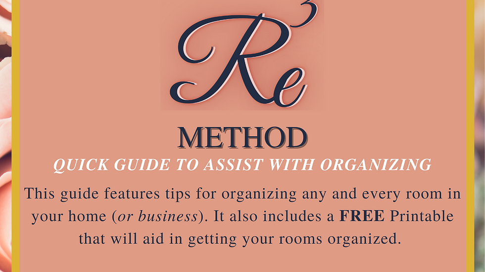 Get Organized! Tips for Re3