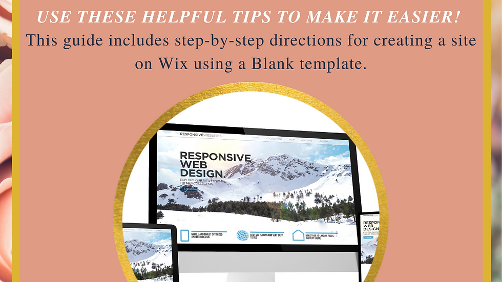 Build Your Site! Guide to building a Wix Website