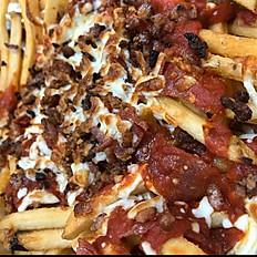 Pepperoni Bacon Pizza Fries