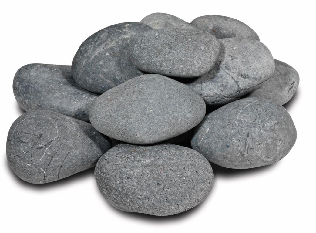 Beach Pebbles Zwart 12-15 cm
