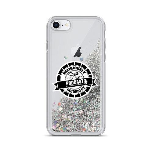 Religiously Incorrect Podcast Branded Liquid Glitter Phone Case