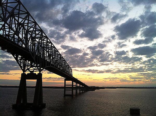 Bridge Into Sunset