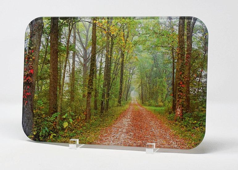 Cutting Board: Dirt Road In Autumn