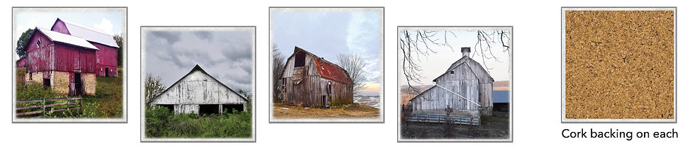 Midwest Barns Coasters - boxed set of 4
