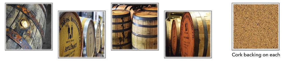Whiskey Coasters - boxed set of 4