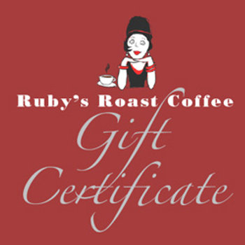 Ruby's Gift Certificate: use Coupon Code Gift It!