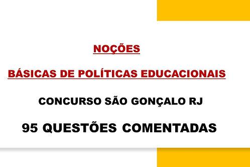 NOÇÕES BÁSICAS DE POLÍTICAS EDUCACIONAIS