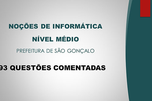 INFORMÁTICA NÍVEL MÉDIO SÃO GONÇALO