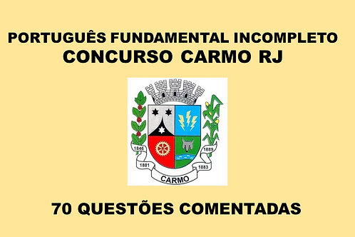 Português Fundamental Incompleto Carmo RJ