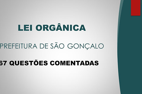 LEI ORGÂNICA SÃO GONÇALO