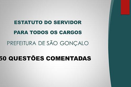 ESTATUTO DO SERVIDOR SÃO GONÇALO