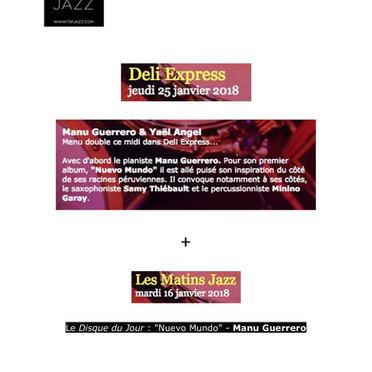 TSF Jazz, Deli Express et Les matins jazz