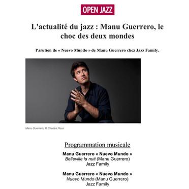 France Musique, Open Jazz, Alex Dutilh