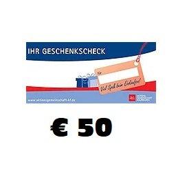 Geschenkscheck € 50