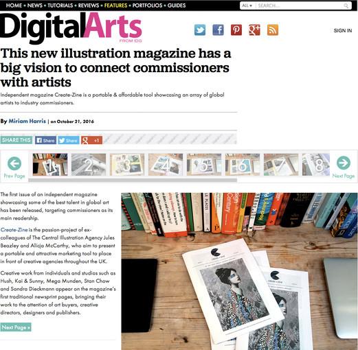 Create Zine on Digital Arts