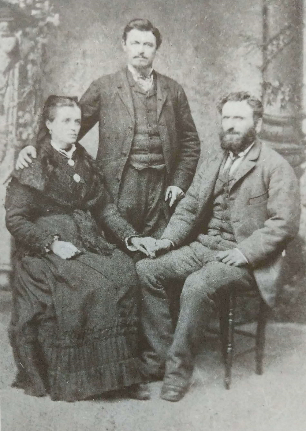 The De Bedin family - Mother and sons Pietro and Giovanni - in Domanins, 1882.