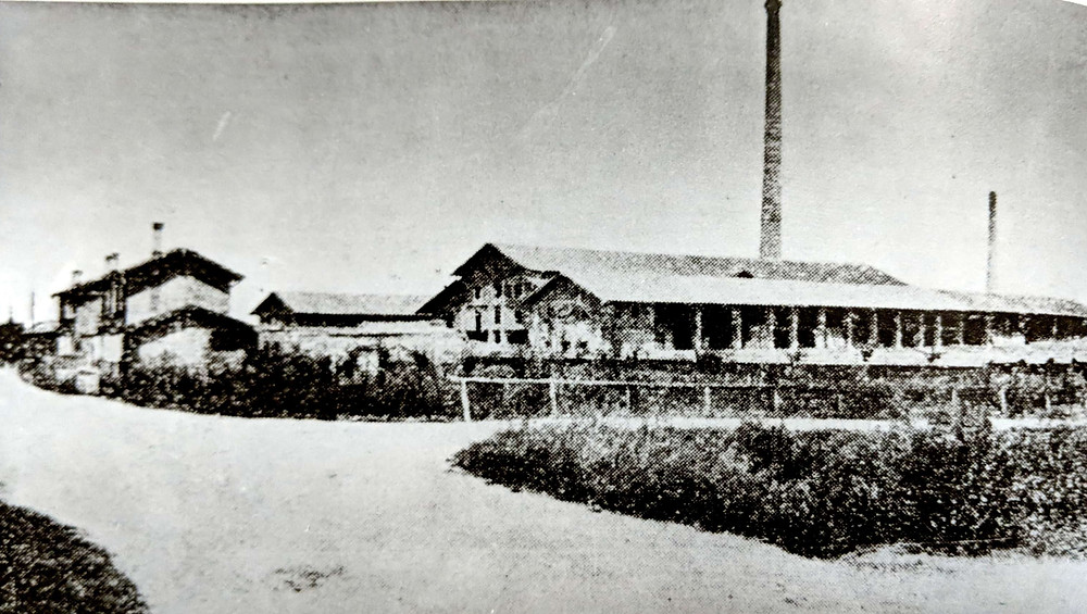 The brick kiln in San Giorgio (where the Vini San Giorgio winery now stands) in 1928.