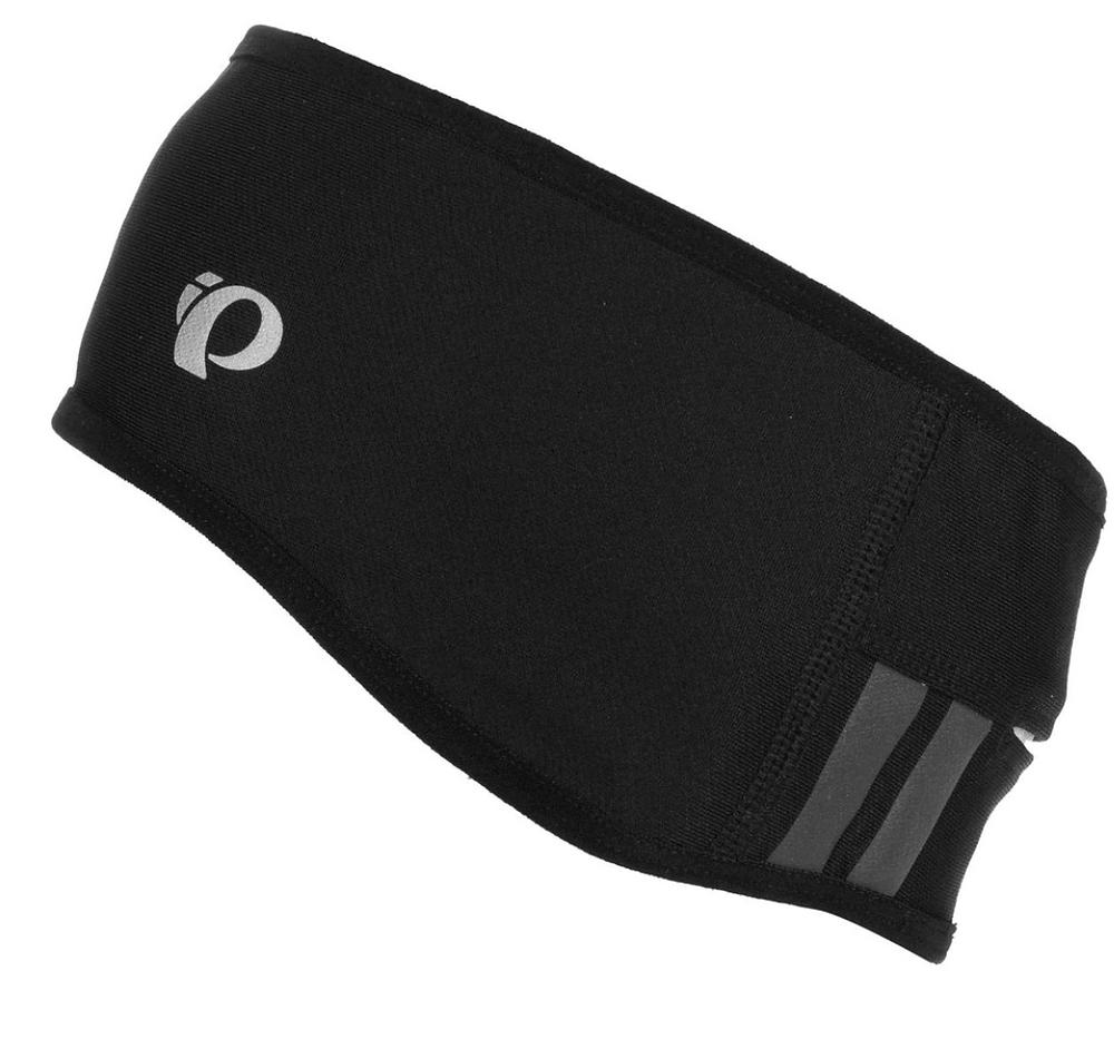 Black handband with a pony tail hole