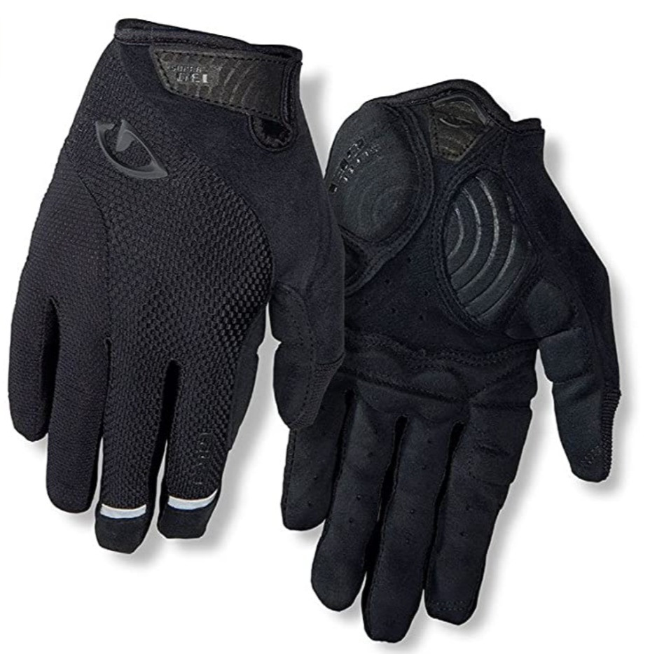 black cycling gloves with padding