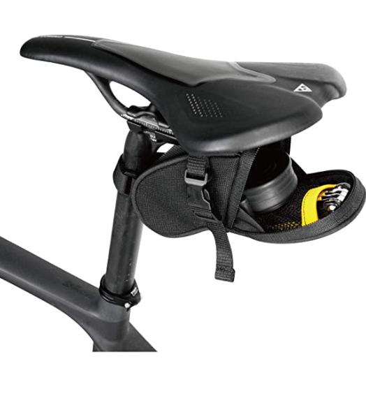 Saddle bag under bike seat
