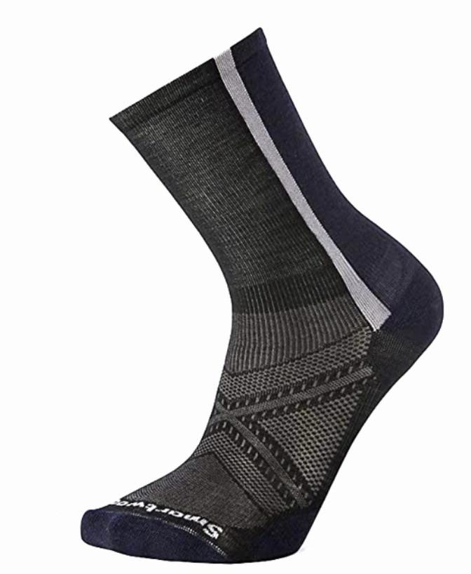 Black wool socks for cycling