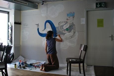 Wandmalerei für Hiltl Vegi Restaurant.