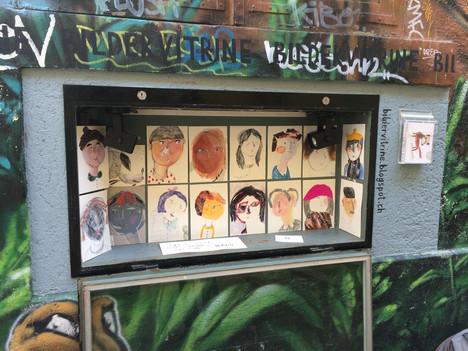 Meine Portraits - Die Bildervitrine, ein kleiner Ort für Illustration, mitten in der Zürcher Altstadt