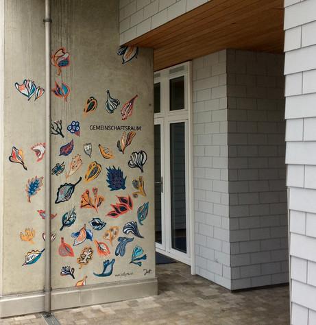 Wandmalerei für Baugenossenschaft GISA 2020