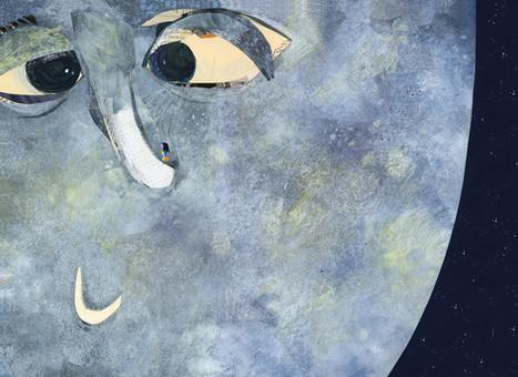 Herr Mond mit Mathilda auf der Nase.
