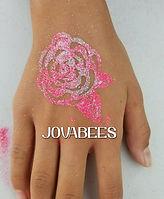 JOVABEES Glitter Tattoo Rose