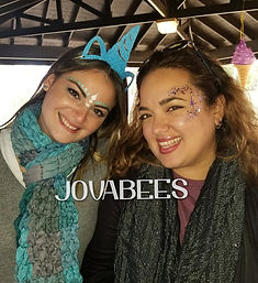 JOVABEES Adult Festival Face Paint and GlitterEye