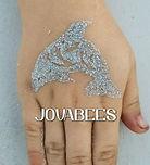 JOVABEES Glitter Tattoo Dolphin