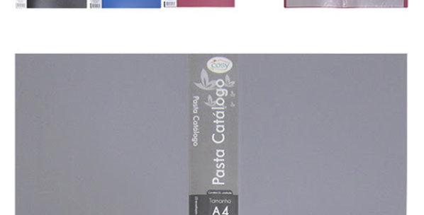 PASTA CATALOGO A4 C/10 ENVELOPES P/20 FOLHAS 31,5X23CM COLORS PP19023 FX/PE