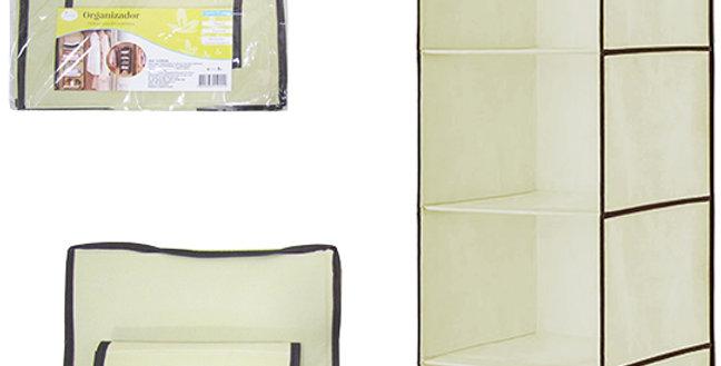 ORGANIZADOR DE PVC / TNT DOBRAVEL MULTIUSO LISO COM 4 DIVISORIAS 80X30X29,5CM