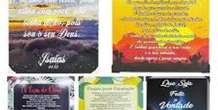 QUADRO DECORATIVO 30X40CM DE METAL ADESIVADOBIBLICOS