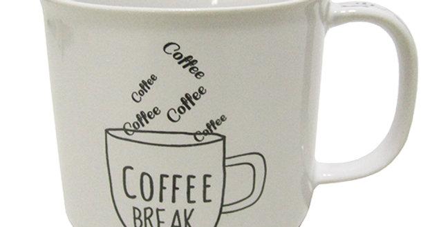 CANECA DE PORCELANA MASTER COFFEE BREAK / TIME BRANCA 280ML