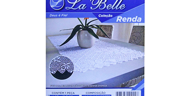 CAMINHO DE MESA DE RENDA 140X140 CM LA BELLE