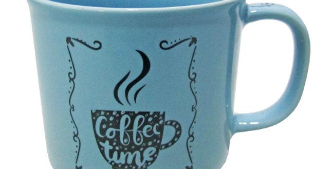 CANECA DE PORCELANA MASTER COFFEE BREAK / TIME AZUL 280ML