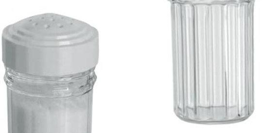 SALEIRO DE MESA DE ACRILICO C/TP. DE PLASTICO BRANCO 7,5X4CM 629 ERCA PLAST
