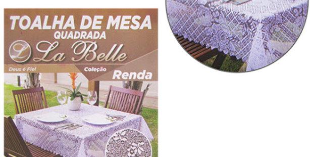 TOALHA DE MESA QUADRADA DE RENDA 140X140CM