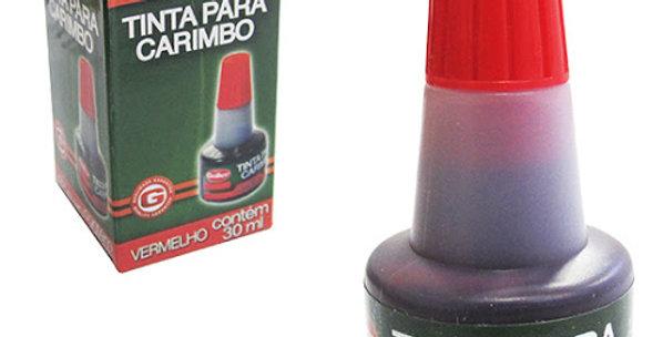 TINTA P/CARIMBO VERMELHO 30ML 5959/20650 DAIWA GOLLER