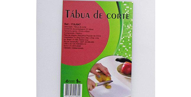 TABUA DE CORTE DE PLASTICO RETANGULAR BRANCO 43X27CM