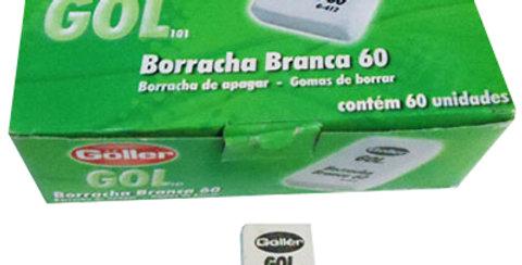 BORRACHA ESCOLAR BRANCA - UNIDADE