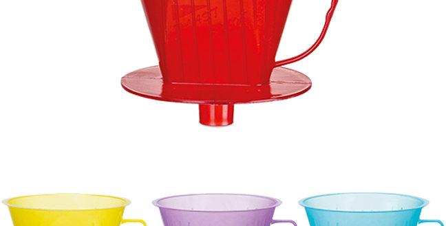 PORTA FILTRO DE CAFE 103 DE PLASTICO TRANSCOLOR 13,5X13,5CM0 092/051 PLAST SHOW