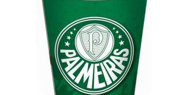 COPO PAPEL 200ML PALMEIRAS C/08 FEST COLOR
